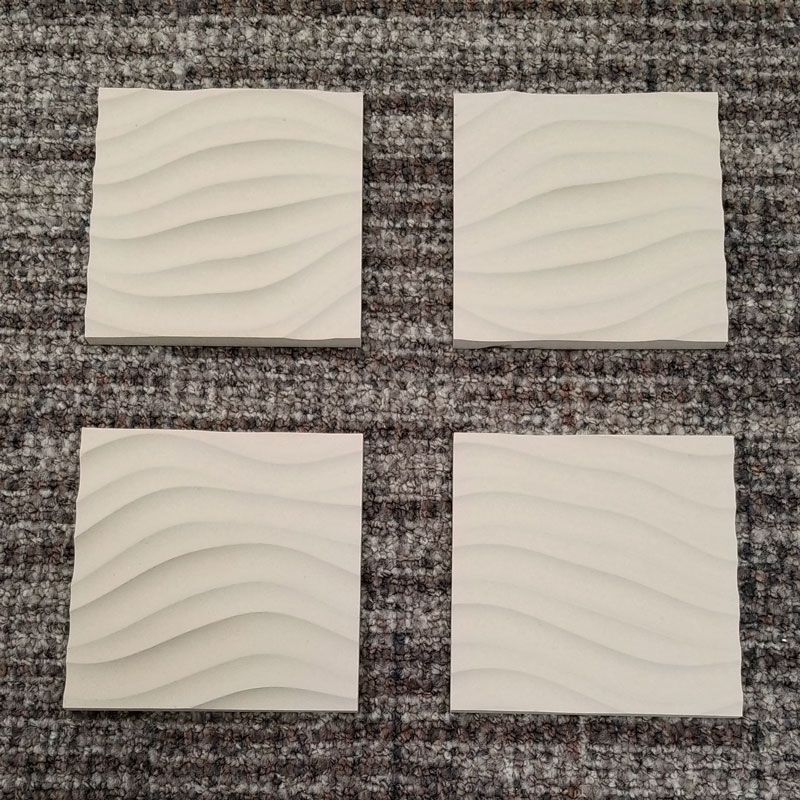 Coasters Set of 4 Sculpted Panels