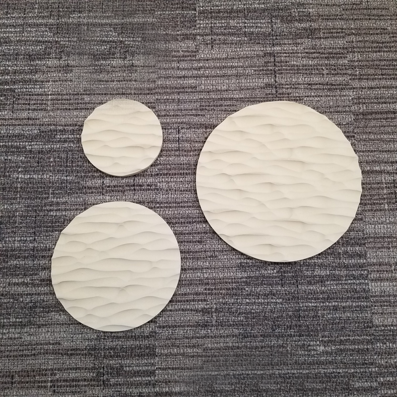 Metal Round Sculpted Panel