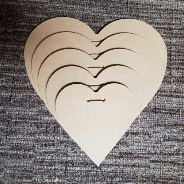 Sculpted Panels Heart Shaped Artist Panel