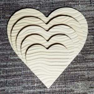 Sculpted Panels Heart Shaped Flow Artist Panel