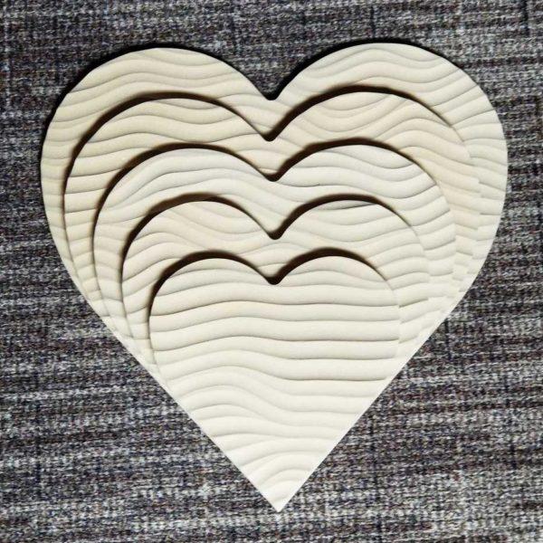 Sculpted Panels Heart Shaped Flow Artist Panel