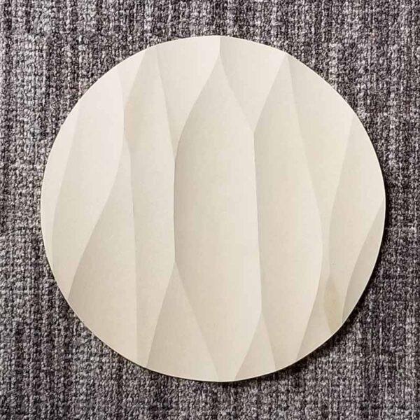 Iceberg Round Sculpted Panel