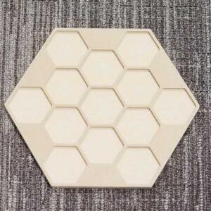Hexagon Sculpted Panel